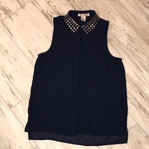 Sheer Katie K Sleeveless blouse.